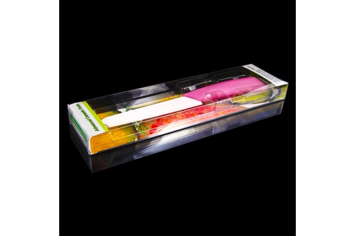 Нож для хлеба керамический, лезвие 15cm NS7KN3/PINK