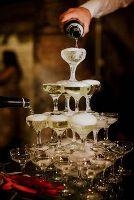 Широкі келихи для шампанського