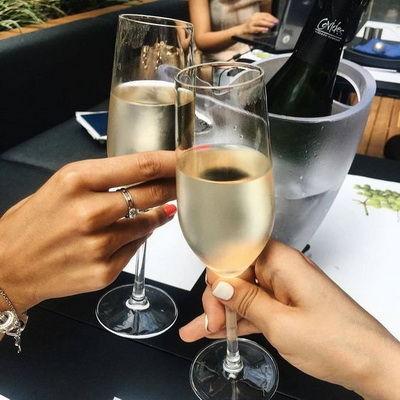 Келихи для шампанського з богемського скла