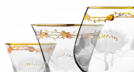 Бокалы и графины итальянского стекла